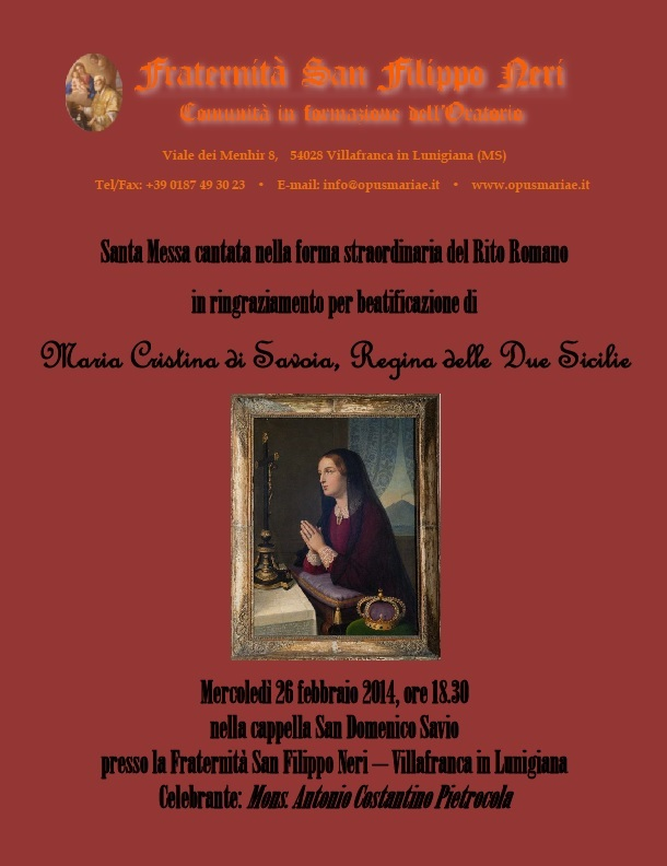 Messa Maria Cristina 26 feb 2014